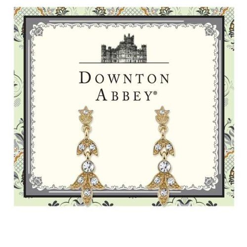 Downton Abbey Gold-Tone Crystal Drop Earrings by Downton Abbey