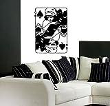 Playing Card Lady Peaks Poker Kids Room Children Stylish Wall Art Sticker Decal G9827