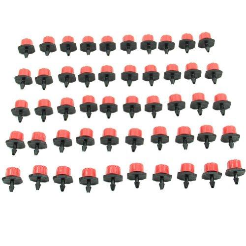 HeroNeo-50pcs-GARTENBEWSSERUNG-Benetzt-Micro-Flow-Tropfer-Tropferabstand-1-4-Zoll-Schlauch