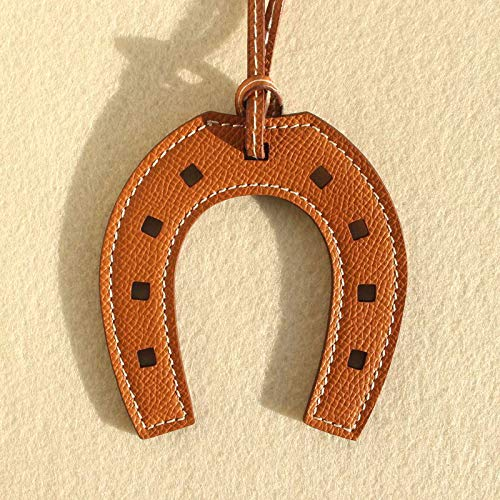 Key Chains - Luxury Famous Brand Designer Horse Hoof Horseshoe Genuine Leather Keychain Pendant Key Chain Girls Women Bag Charm Accessories - by Mct12-1 PCs