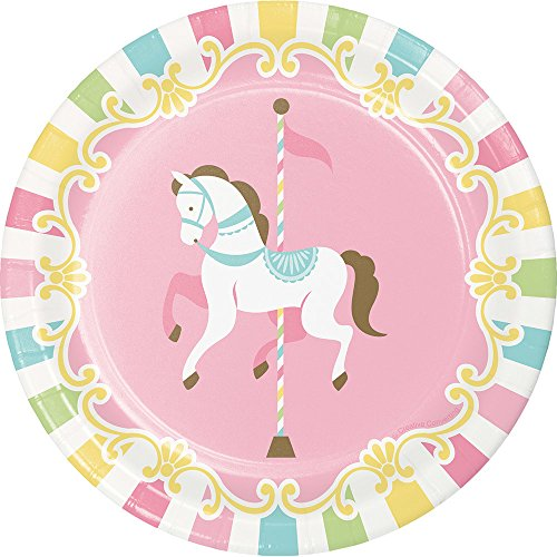 Creative Converting 329351 Carousel Paper Dessert Plates Party Supplies, 7