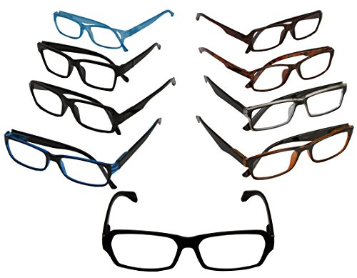 Wholesale Lot 6 Pack Optical READING GLASSES Fashionable Men's Styles Plastic EYEGLASSES - Sample Glasses Frames