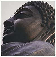 3dRose Hong Kong, Lantau Island, Po Lin Monastery, Statue of Buddha.  - Mouse Pad, 8 by 8 inches (mp_207811_1)