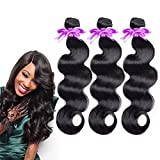 Cheap Brazilian Virgin Hair 3 Bundles Body Wave Hair Extension 100% Unprocessed Human Hair Weave 100g Hair Weft Natural Color (16 18 20)