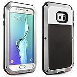 Alienwork Case for Samsung Galaxy S6 edge+ suitable for fingerprint Bumper Cover Shock Proof Super hardness Metal silver SGS6EP06-02