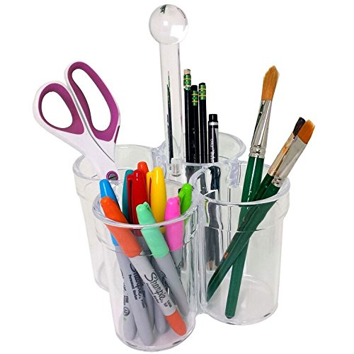 Caddy for Holding Organizing Paint Brushes Pens Pencil - Acrylic Carrier by Paylak