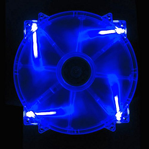 - APEVIA CF20SL-UBL 200mm SILENT Blue LED Case Fan with 3Pin & 4Pin Connectors