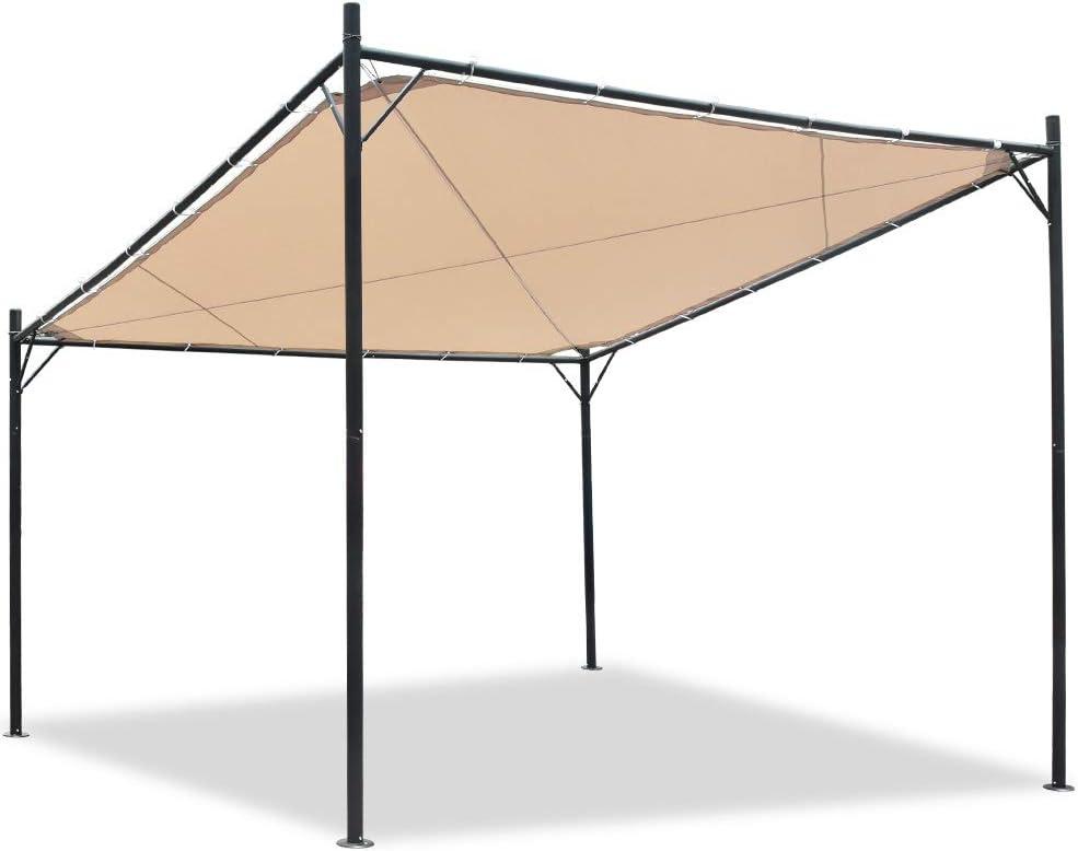 Eurmax Outdoor Patio Wall Mounted Gazebo, Home Carport Awning Gazebo Sunshade Party Canopy Tent,12FT x 12FT
