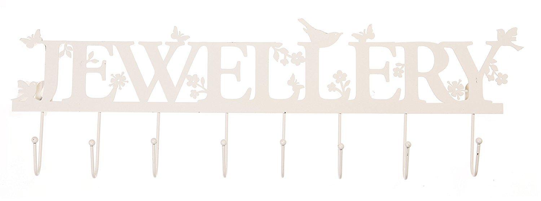 Ganci In Metallo Color Crema Scritta Jewellery Con Uccellini E Fiori Per Bracciali/Collane Display RJB Stone