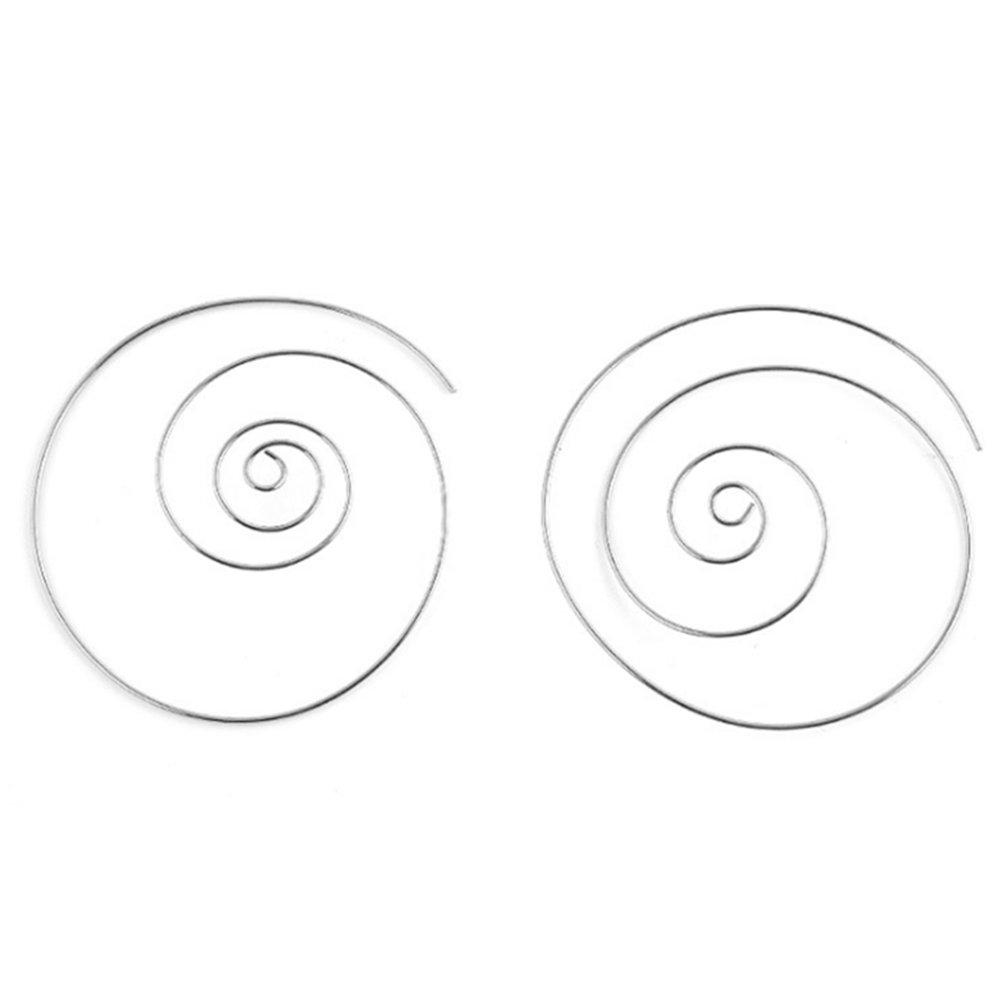 LLNF Boho Tribal Spiral Swirl Hoop Earrings Round Drop Dangle Earrings for Women Girls