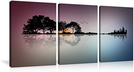 "Mountain and Lake 16/""x28/"" HD Canvas prints Painting Home decor Picture Wall art"