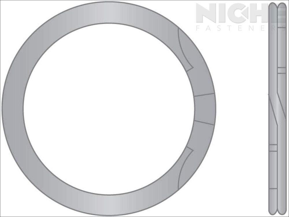 75 Pieces Spiral Ring Internal HD 3//4 SS302 PL