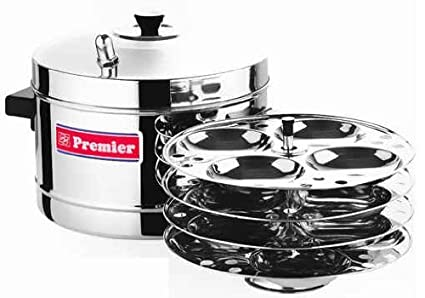 Stainless Steel Idli Maker With 4 Ss Idli Racks By Premier