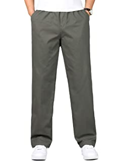 HaoMay Mens Sherpa Fleece Lined Pants Elastic Waist Jogger Sweatpants