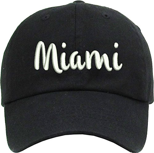Allntrends Adult Dad Hat Miami Dad Hat Vintage Embroidered Trendy Cap (Dark Grey) ()