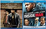 Training Day Blu Ray & The Inside Man Blu Ray + DVD 2 Pack Denzel Washington Double Feature Bundle Action Movie Set