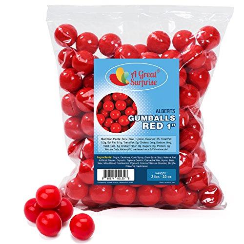 Gumballs in Bulk – Red Gumballs for Candy Buffet – Gumballs 1 Inch – Bulk Candy 2 -