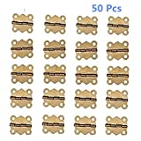 BaiJia 50Pcs Mini Iron Butterfly Hinges Cabinet Drawer Door Butt Hinge (Gold color)