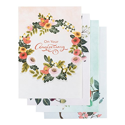 Anniversary - Inspirational Boxed Cards - Floral Border ()