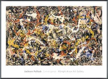 ポスター ジャクソン ポロック Convergence 額装品 アルミ製ベーシックフレーム(ブラック) B0031JCJEM ブラック ブラック