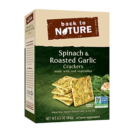 Back to Nature Non-GMO Spinach & Garlic Crackers, 6.5 Ounce
