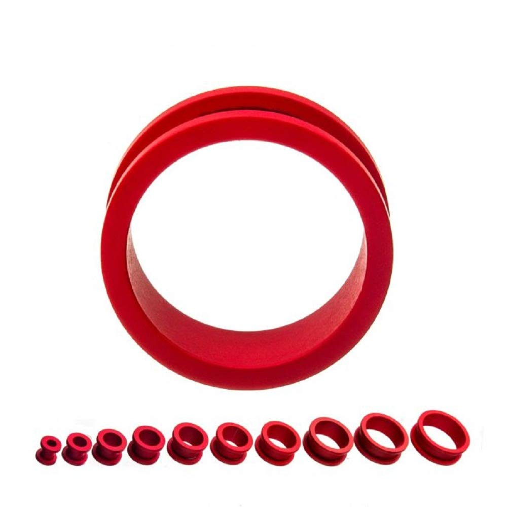 GranTodo 316 Surgical Steel Crimson Red Silicone Coated Matte Finish Screw Fit Steel Plugs