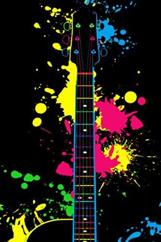 (Splash Gitarre: A5 Tabulatur Block mit leeren Tabulaturlinien - 120 Seiten Tab Notizbuch perfekt als Notenbuch oder Notenheft, passendes Geschenk für ... Gitarrenspieler und Musiker! (German Edition))