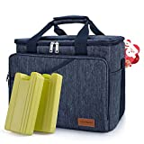 Cooler Bag 40-Can Large, Insulated Soft Sided Cooler Bag with 2 Ice Packs