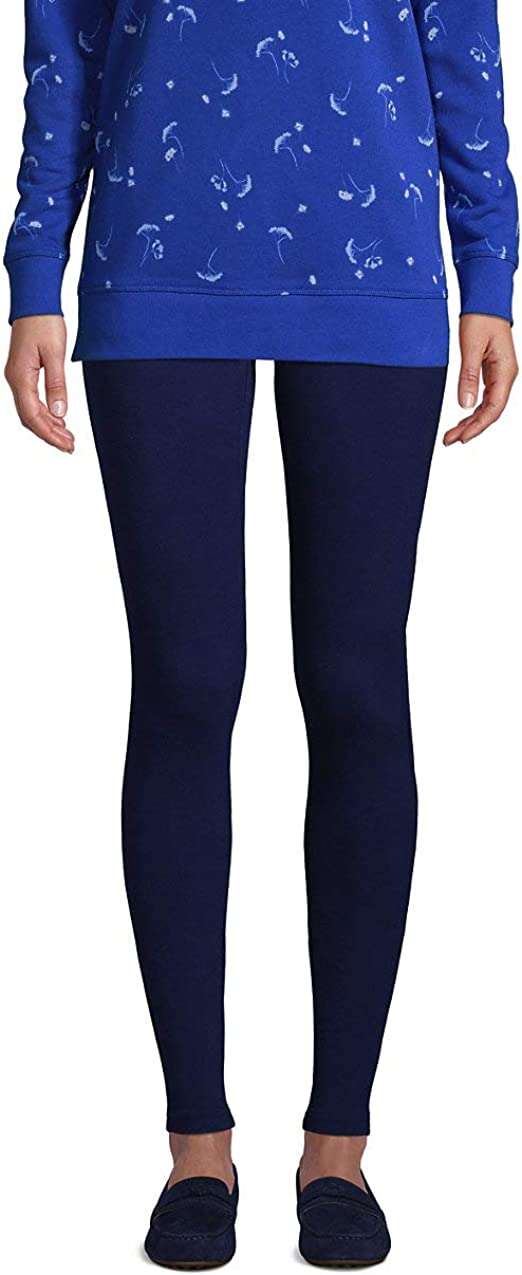 Lands End Womens Starfish Mid Rise Knit Leggings