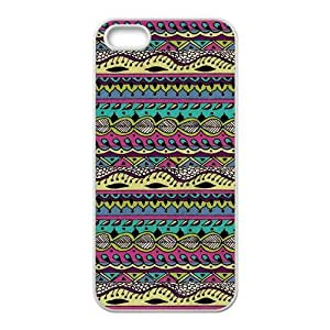 Custom Aztec Tribal Pattern Back Cover Case for iphone5,5S JN5S-370
