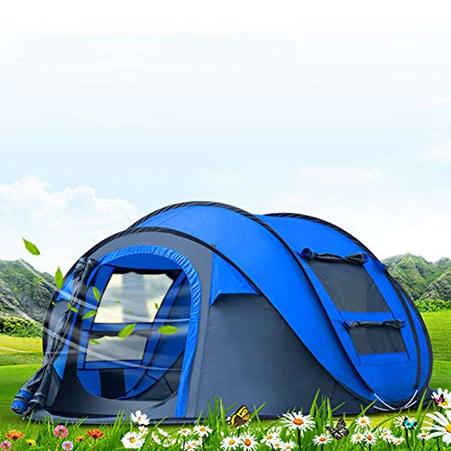純粋な苗ジョージバーナードキャンプ用テントのポップアップ4-5名用アウトドア自動セットインスタントテントファミリースローポップアップテント