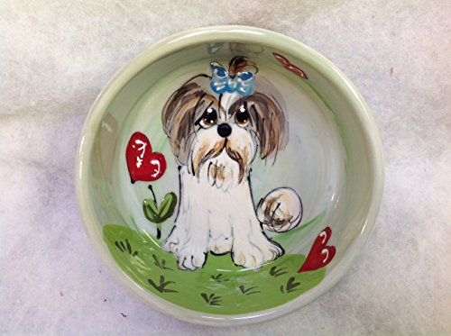 Pet Bowl 6″ Dog Bowl for Food or Water. Personalized at no Charge. Signed by Artist, Debby Carman.