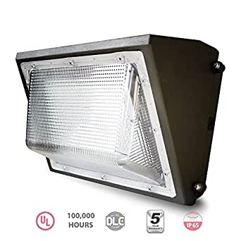 EverWatt LED 120W Wall Pack Outdoor Area Light Fixture, 5000K Natural White, 14921 Lumens, Replacement for 600W-700W Equivalent HPS/HID Wall Lights IP65 Waterproof, UL/DLC Listed, Optional Photocell