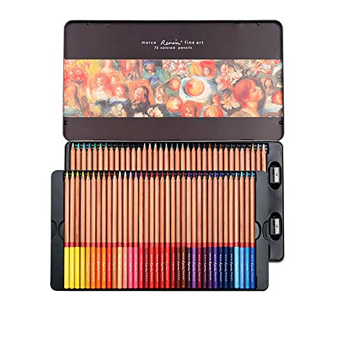 Professional Colored Pencils, Oil-Based, Water-Soluble, Fine Art Painting, Professional Hand-Painted (72 Color, Oily 72 Color)