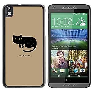 Be Good Phone Accessory // Dura Cáscara cubierta Protectora Caso Carcasa Funda de Protección para HTC DESIRE 816 // Funny Look 4 Moons Cat