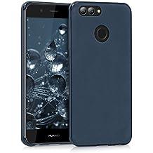 kwmobile Chic TPU Silicone Case for the Huawei Nova 2 in dark blue matt