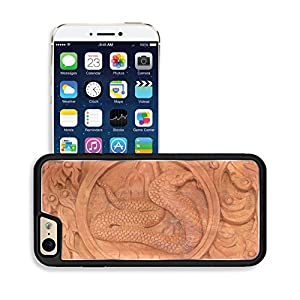 Luxlady Premium Apple iPhone 6 iPhone 6S Aluminum Backplate Bumper Snap Case IMAGE ID: 34428841 Wood carving of snake Chinese zodiac animal sign