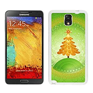 Niche market Phone Case Orange Christmas Tree Green Background White Silicone Case For Samsung Galaxy Note 3,Samsung N9005 Phon