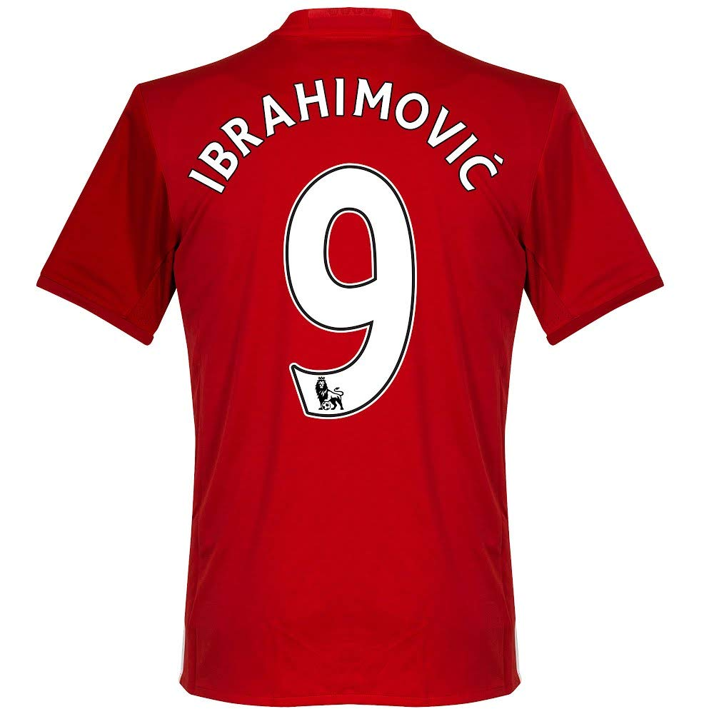 375422f8a Amazon.com   Manchester United Home Ibrahimovic Jersey 2016   2017 (PS-Pro  Player Printing) - XS   Sports   Outdoors