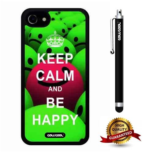 iphone 8 Case, iphone 7 Case, Maxim Case, Cowcool Ultra Thin Soft Silicone Case for Apple iphone 7 8 - Keep Calm Be Happy Ball Face - Master Ball Sapphire