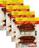 Chorizos Palacios. Imported from Spain. 4 chorizos per pack. 6.5 oz 4 packs Total 16 chorizos