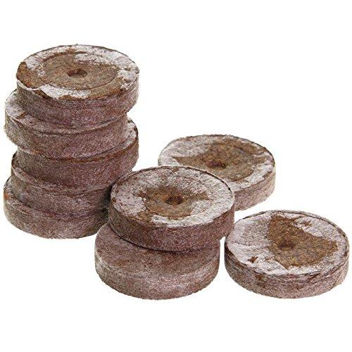 Jiffy Torfquelltöpfe 100 Stück Jiffy Pastillen 41mm Quelltöpfe Anzucht
