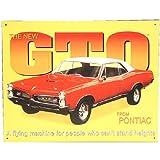 Pontiac 1967 GTO Tin Sign 16 x 13in