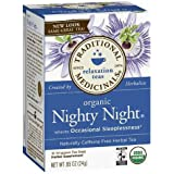 Traditional Medicinals Caffeine Free Herbal Tea Bags, Nighty Night 0.85 oz (Pack of 2)