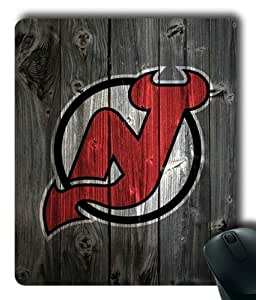 New Jersey Devils on Wood Rectangle Mouse Pad by eeMuse
