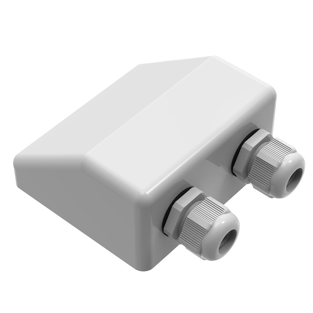 GIARIDE Double Cable Entry Gland Waterproof ABS Gland Box for Cable Types 4mm to 12mm, Solar Panel Motorhome RV Campervan Caravan Boat Satellite Antennas, White