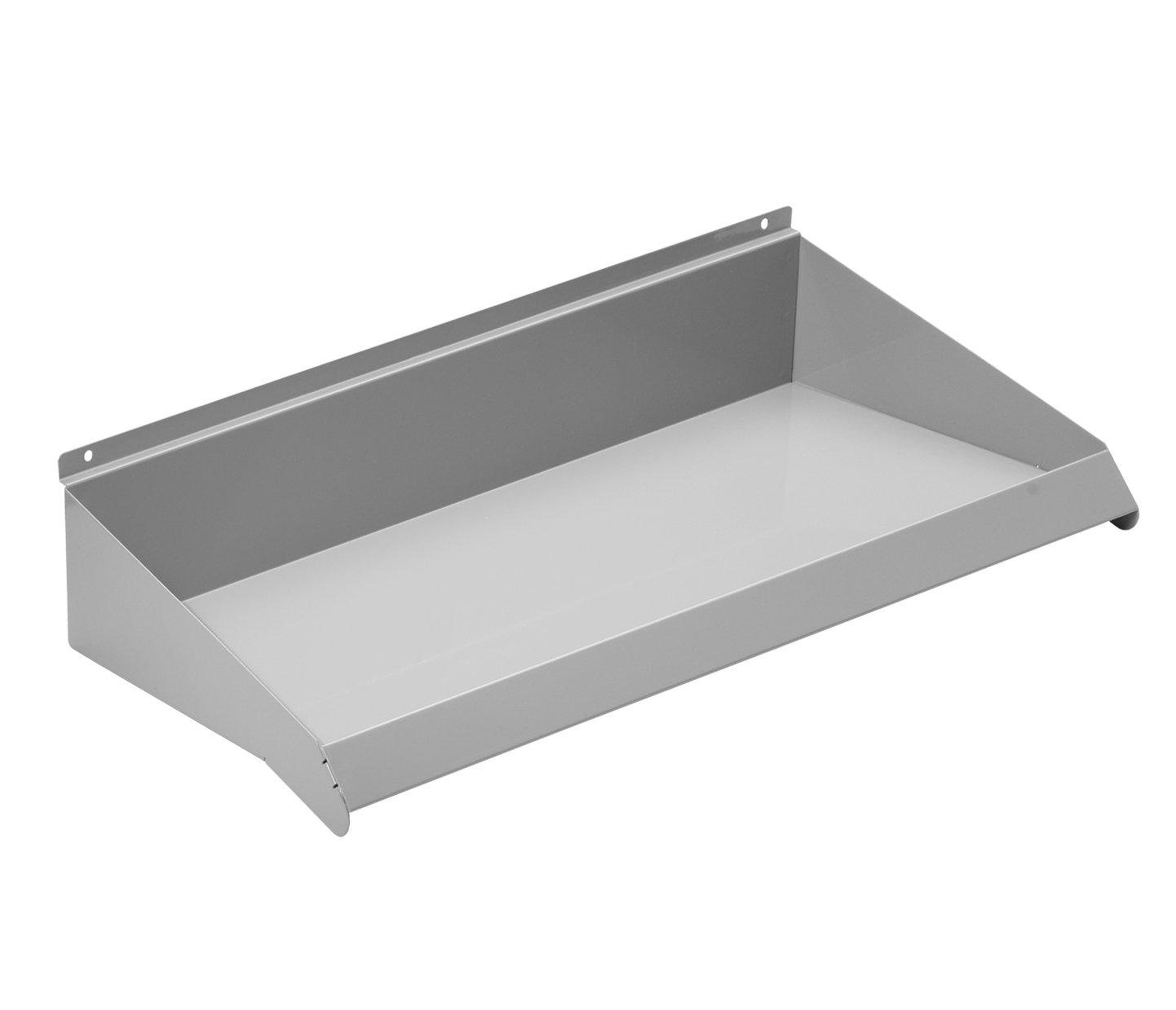 NeXtrac Slatwall Shelf for Merchandising, 24'' x 10'', Grey