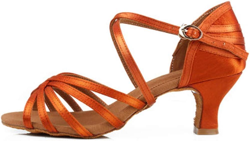 HIPPOSEUS Womens Professional Latin Dance Shoes Ballroom Party Practice Performance Sandals,Model 213