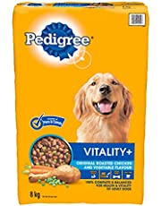 PEDIGREE VITALITY+ Dry Dog Food, Roasted Chicken and Vegetable Flavour, 8kg Bag