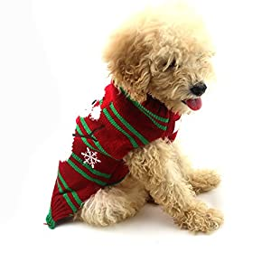 DELIFUR Dog Ugly Christmas Sweater Xmas Sweater Dog Christmas Snowman Sweater Cat Ugly Christmas Sweater for Cat Dog (M)
